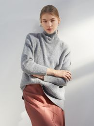 Knitted High Neck Sweater 179816