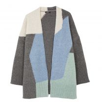 Knit Jacket With Multicoloured Print