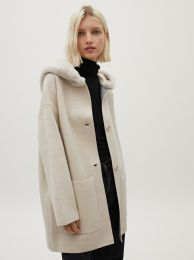 Hooded Cardigan With Pockets 181737