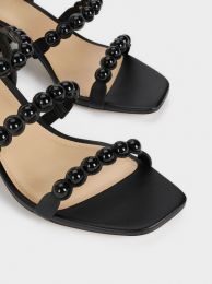 Flat Sandals With Ball Details