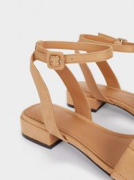Flat Sandals With Ankle Strap