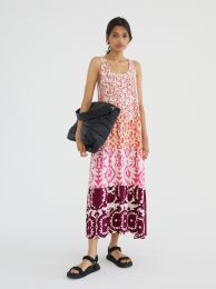 Printed Dress With Straps 188258