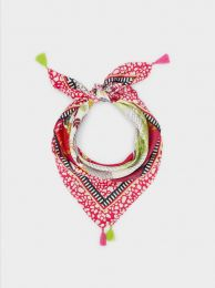 Printed Square Neckerchief Made From Recycled Materials 188728
