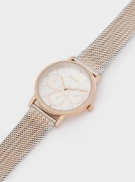 Watch With Two-Toned Steel Strap 189559