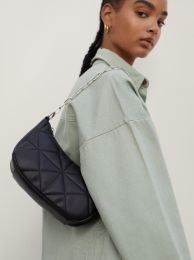 Quilted Shoulder Bag With Double Strap 189933